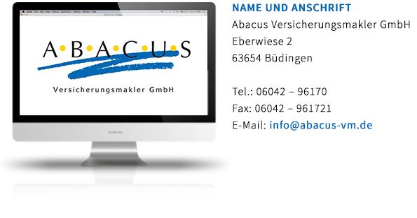 Ababcus Versicherungsmakler-Erstinformation
